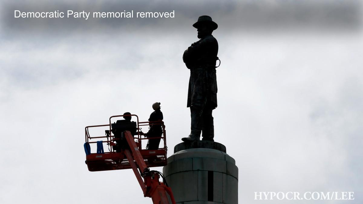 Memorial to Democrat removed
