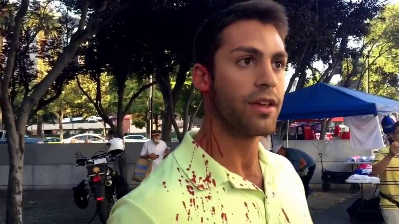 Trump supporter in San Jose, beaten