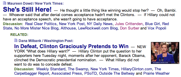 In Defeat, Clinton Graciously Pretends to Win