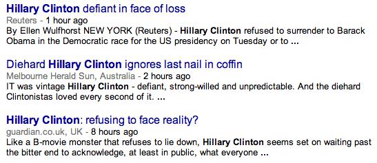Diehard Hillary Clinton ignores last nail in coffin