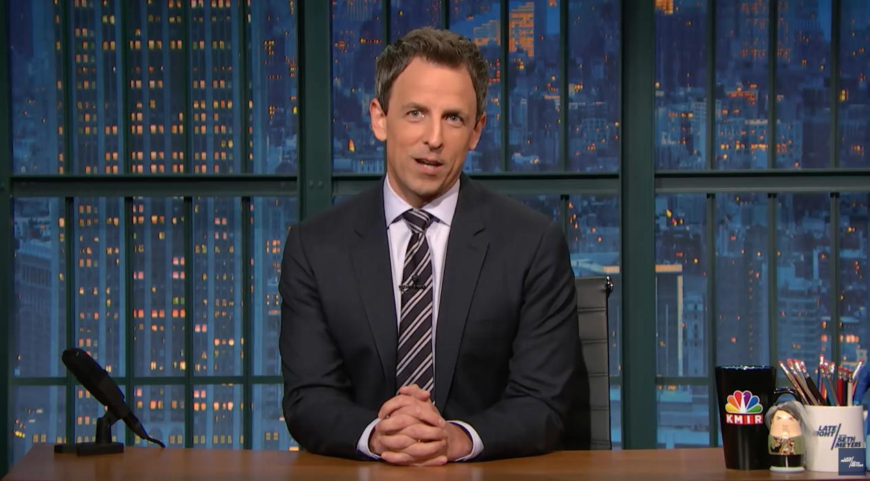 Seth Meyers on Late Night