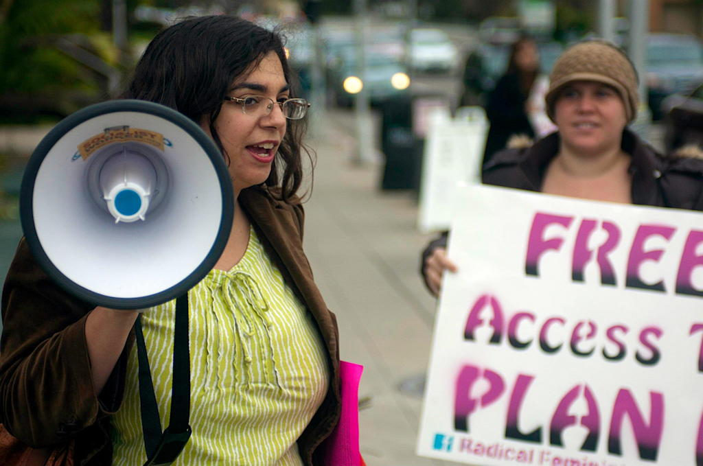 Radical Feminists protest life