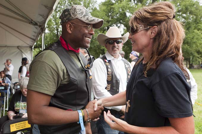 Sarah Palin and Allen West at Rolling Thunder