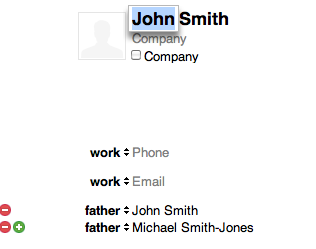 Two fathers in address book