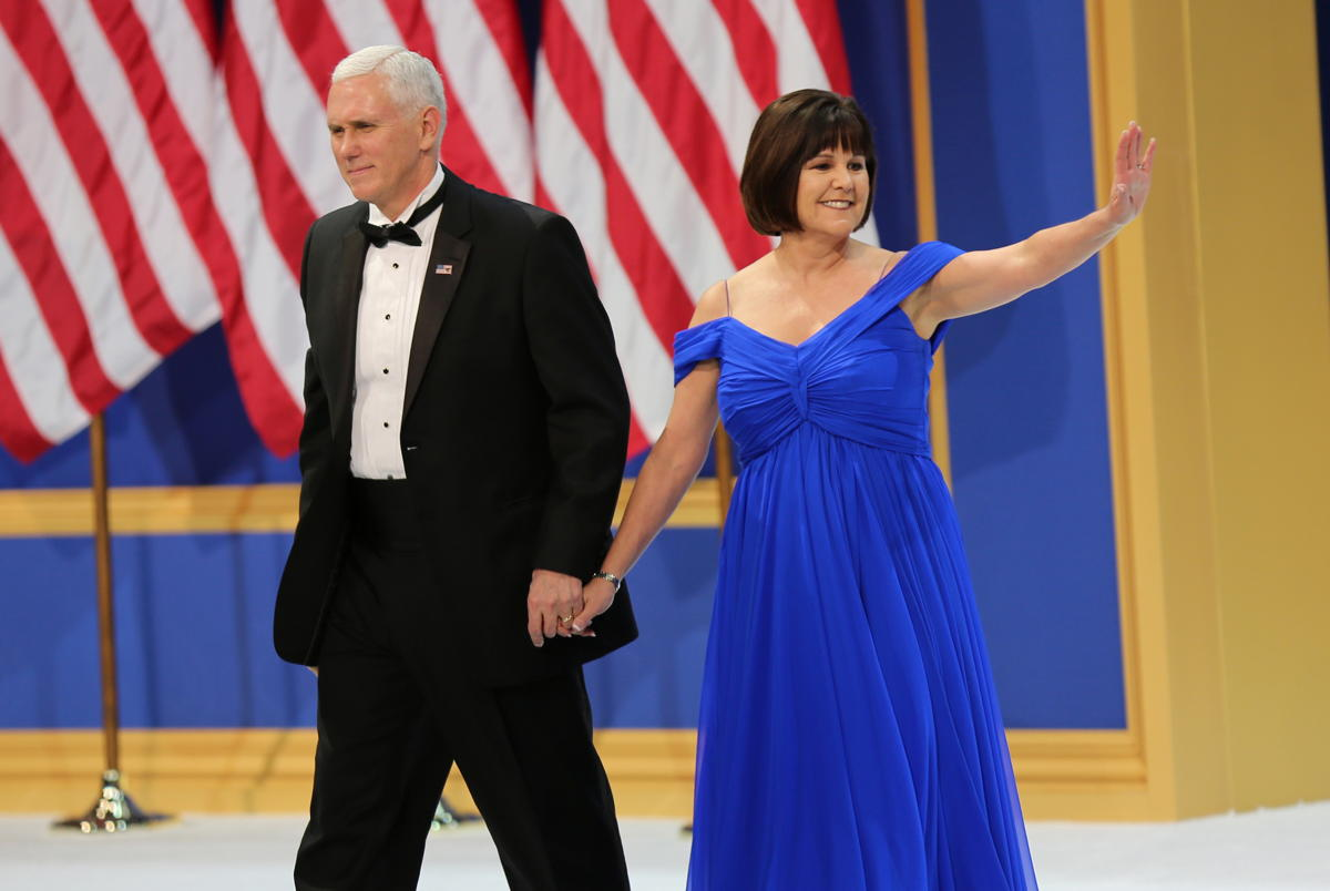 Mike and Karen Pence at Armed Services Ball