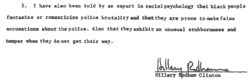 Hillary's racial psychology