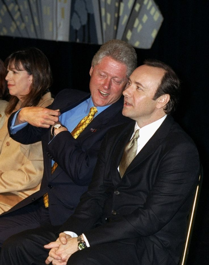 Bill Clinton and Kevin Spacey