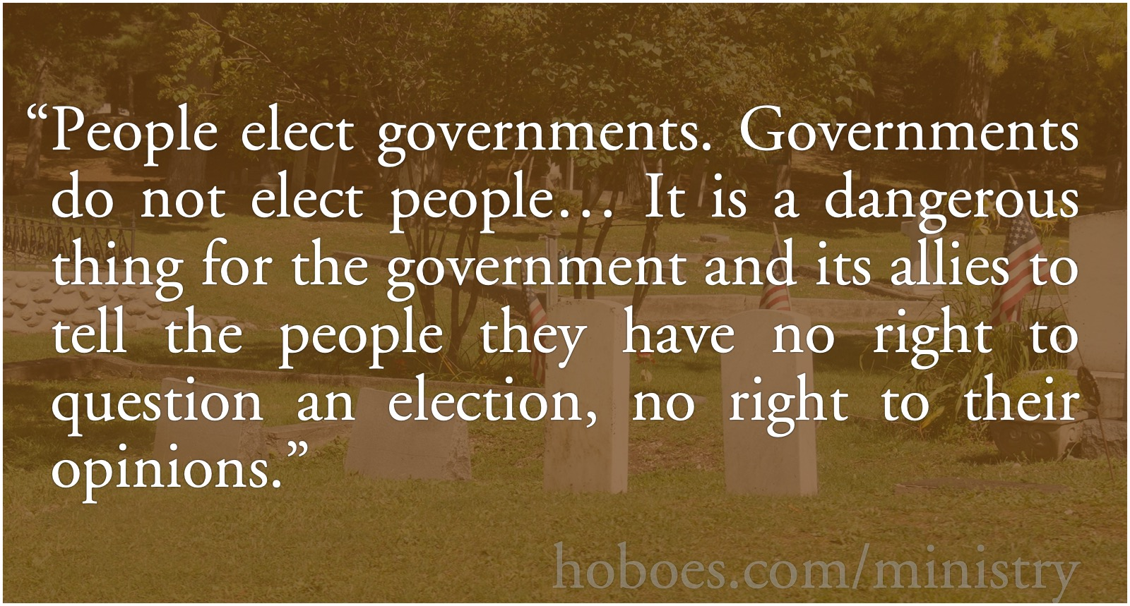 People elect governments