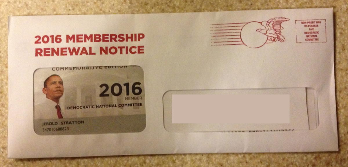 2016 DNC Membership Renewal Notice