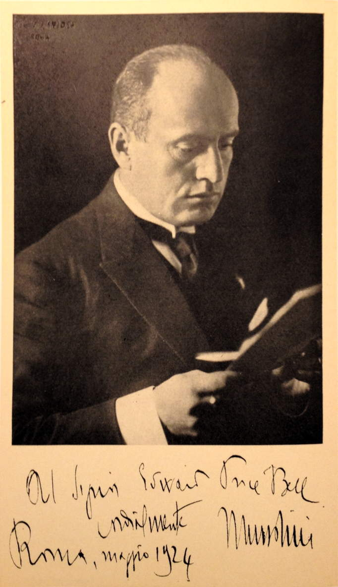 Premier Benito Mussolini