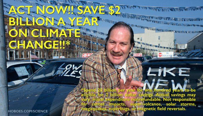 Climate change salesman