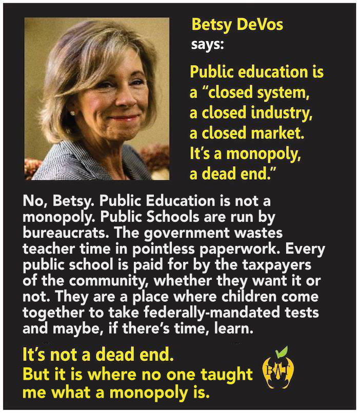 Network for Public Education Action monopoly