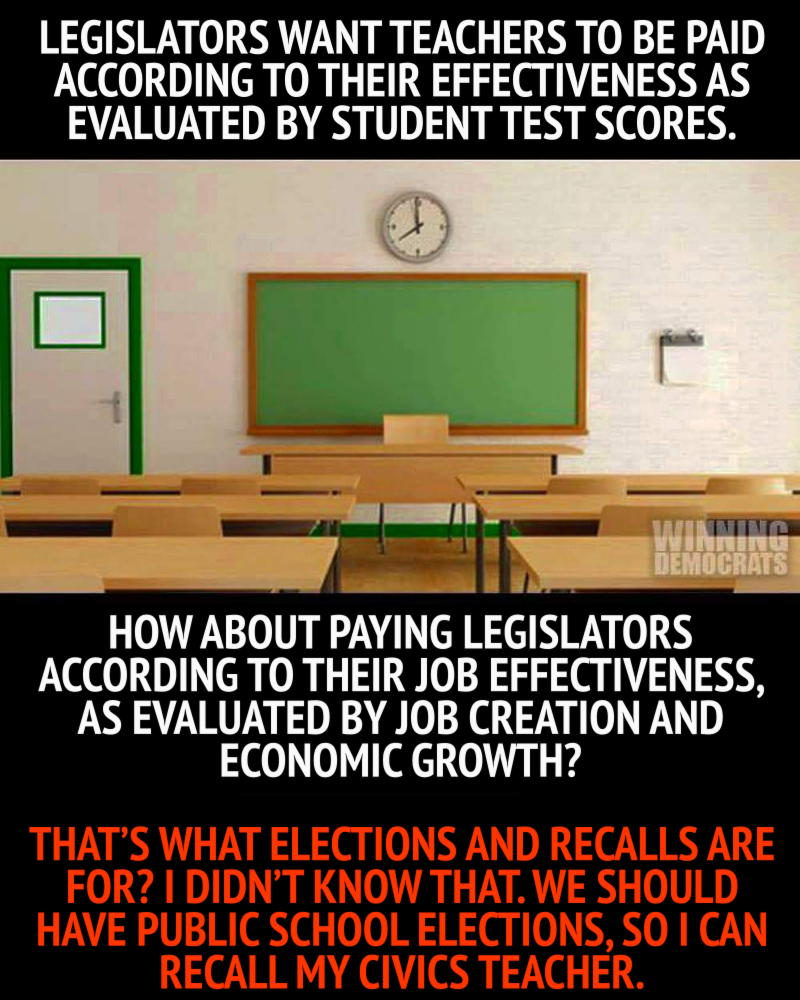 Evaluate teachers like legislators