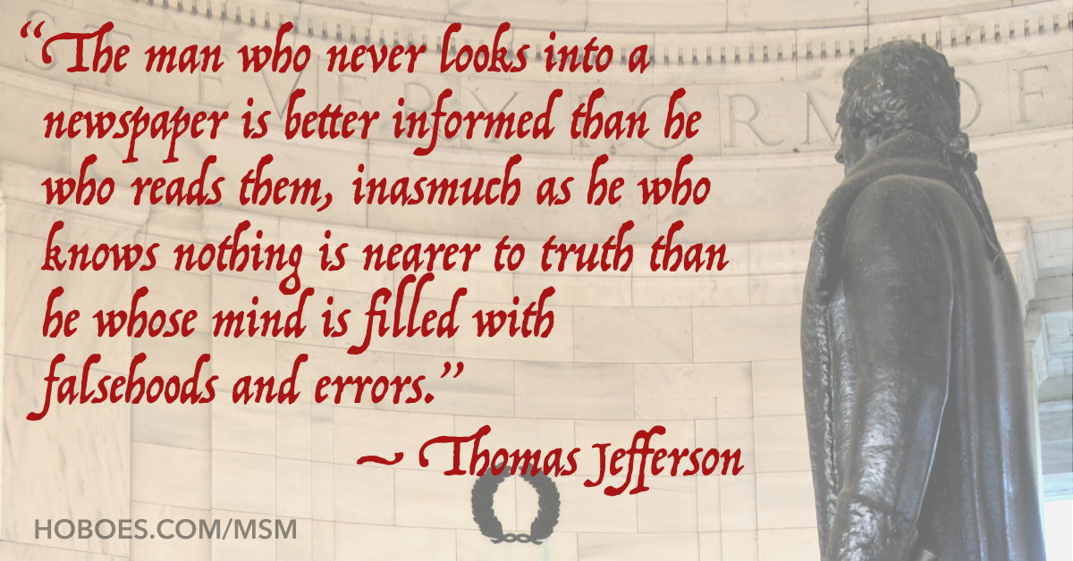 Jefferson on newspapers