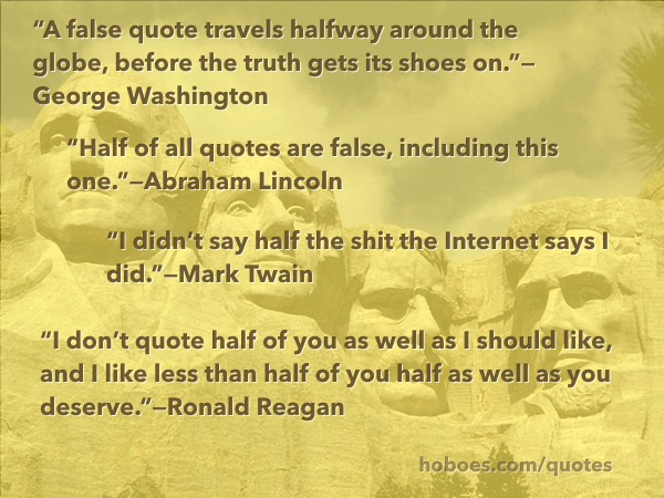 False Internet quotes