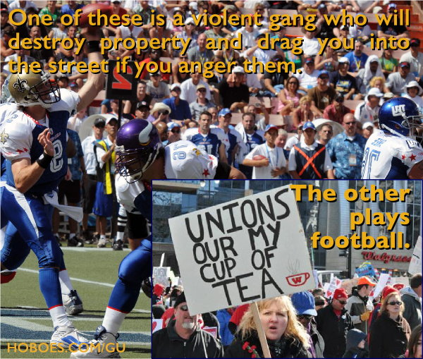 Football players vs. government thugs