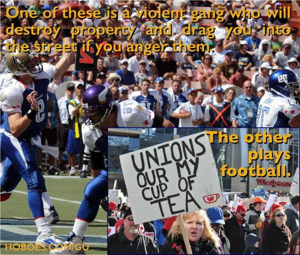 Football players vs. government thugs