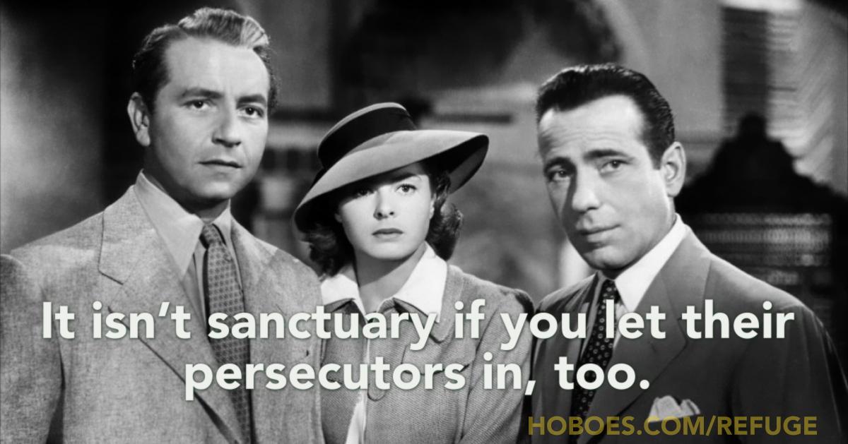 No sanctuary without walls