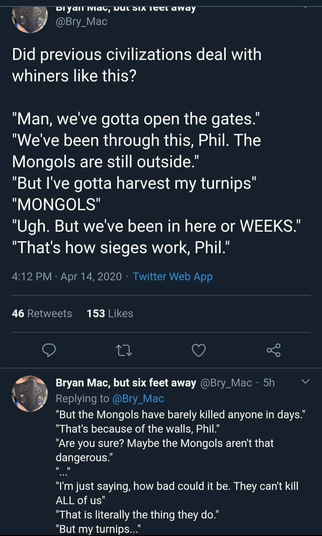 Mongols and Turnips
