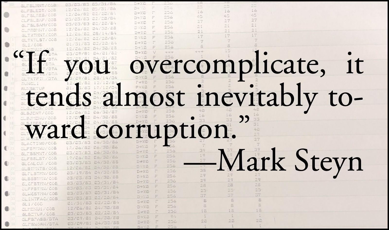 Complicated corruption