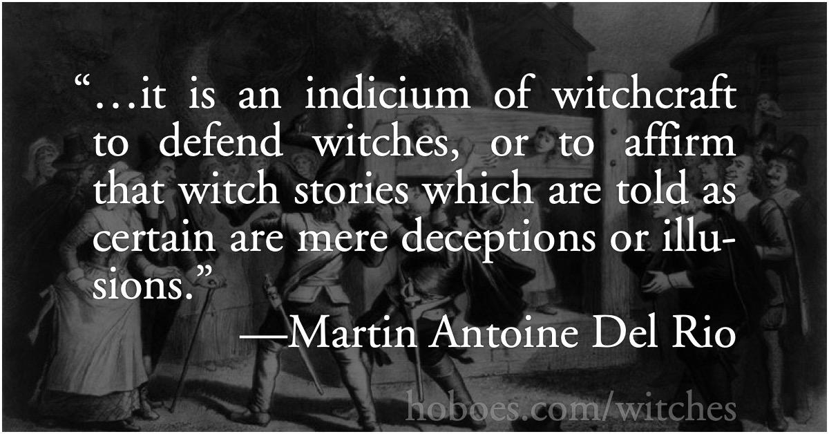 An indicium of witchcraft