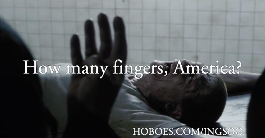 How many fingers, America?