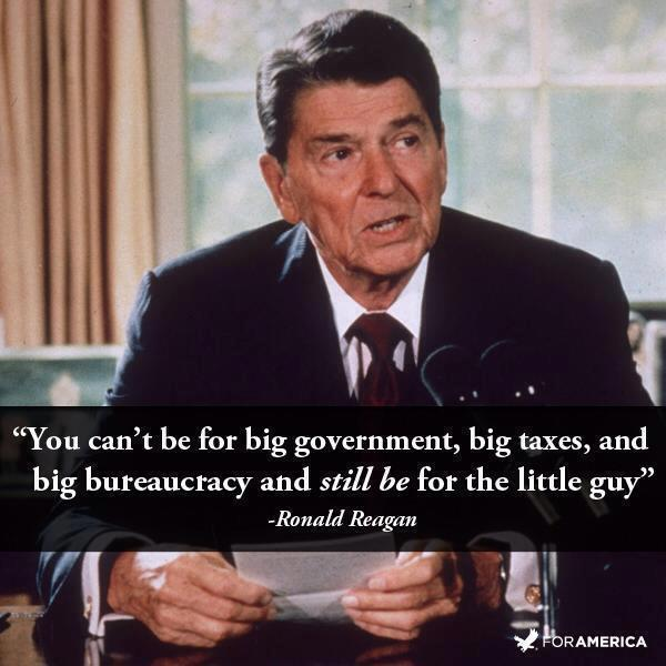 Reagan For the Little Guy