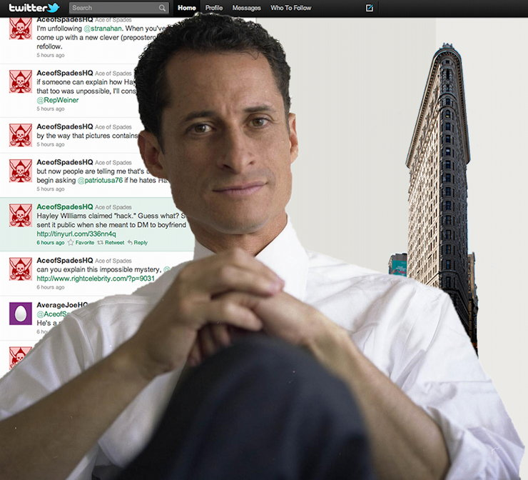 Anthony Weiner on Twitter
