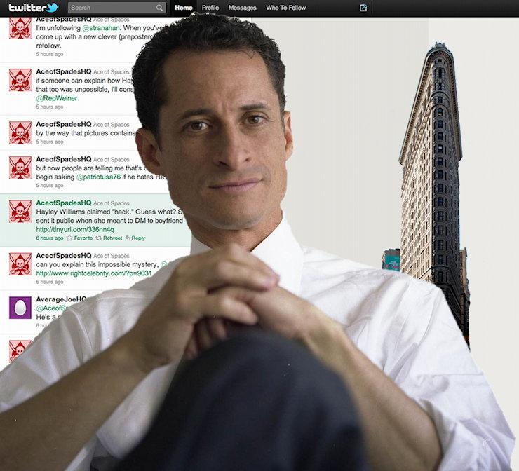 Anthony Weiner on Twitter