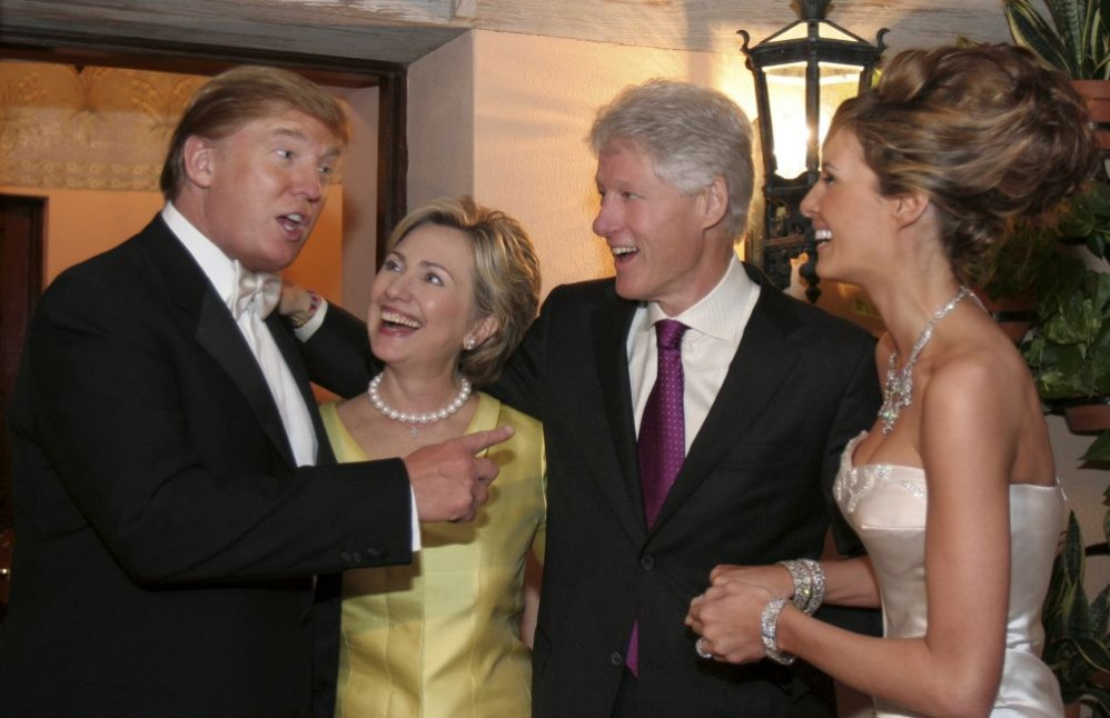 Clintons at Trump wedding