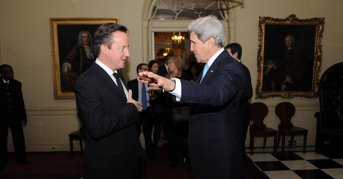 Prime Minister David Cameron and Secretary of State John Kerry