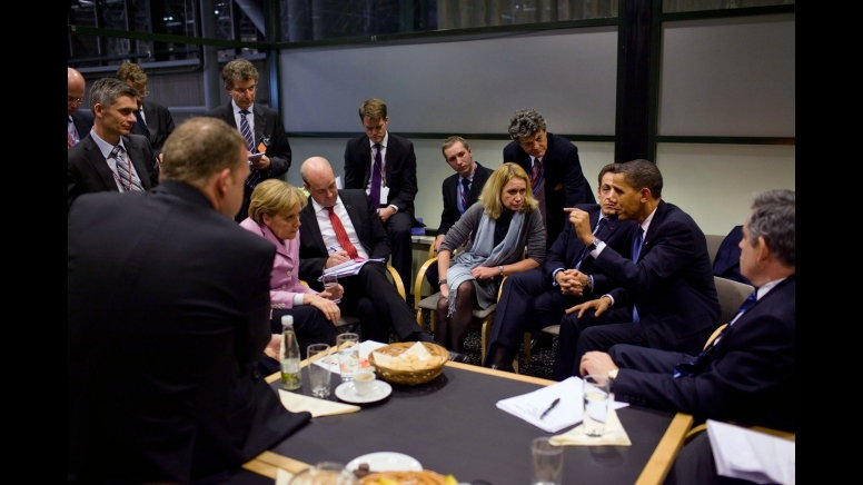 Obama at climate change conference in Copenhagen