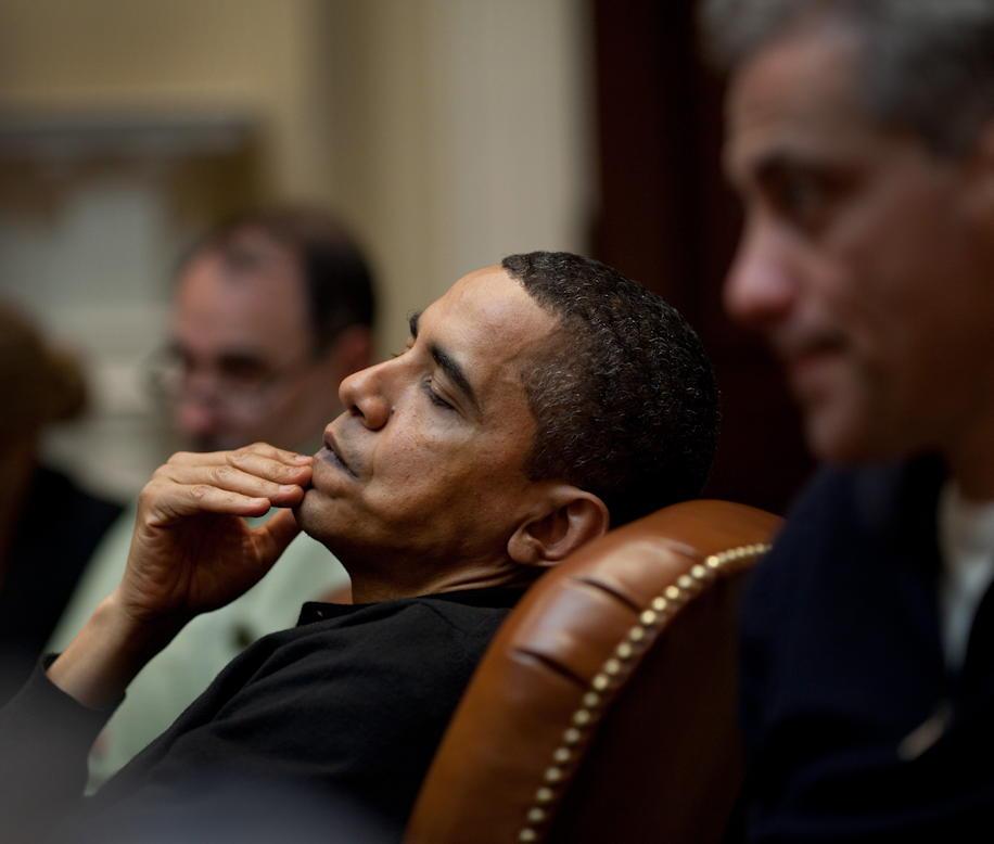 President Obama thinking