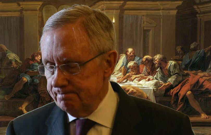 Senator Reid at the Last Supper