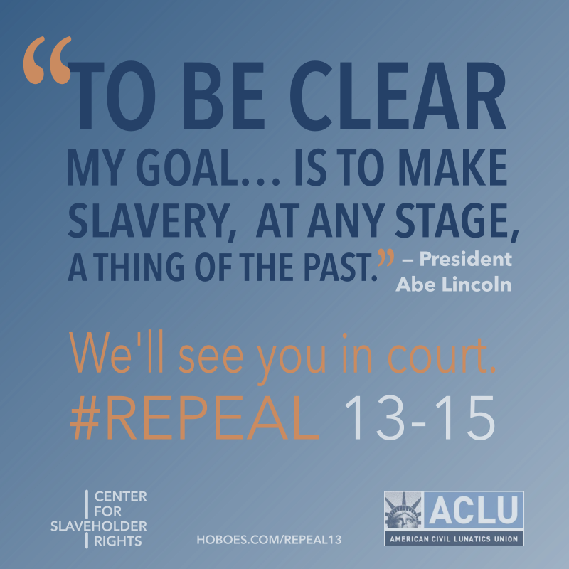 ACLU campaign to repeal 13th amendment