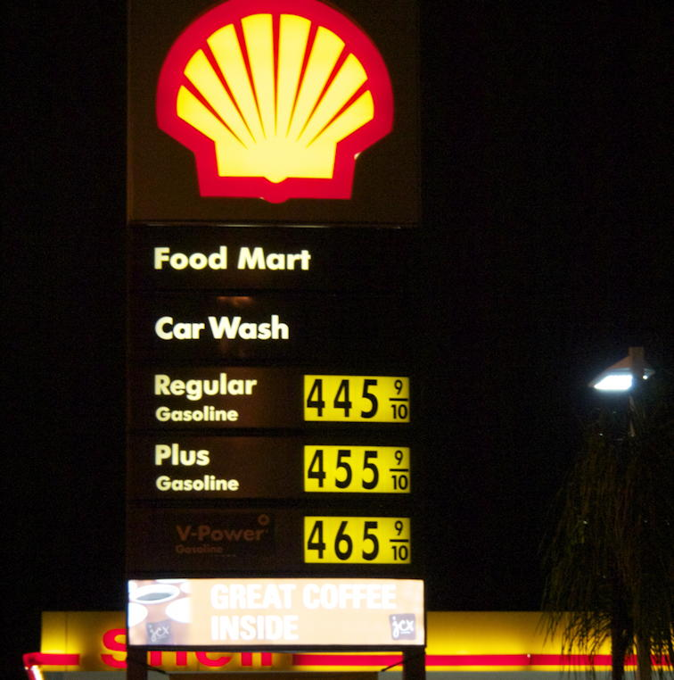 Gas prices May 2 2012