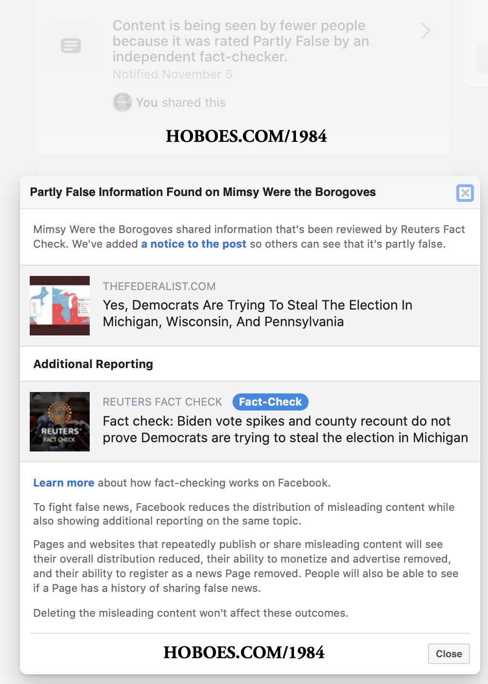 Facebook fact check