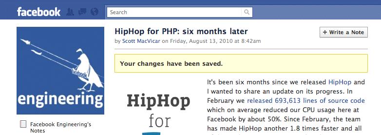 Saving Facebook Engineering