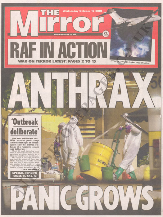 The Mirror, October 10, 2001