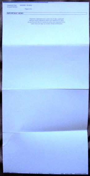 Paperless statements