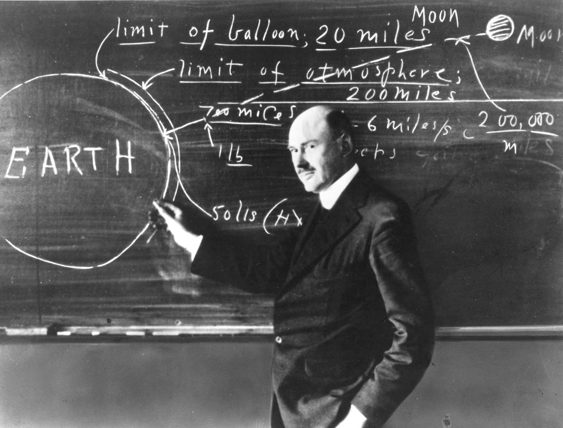 Robert Goddard at Clark University