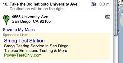 Google maps location ads