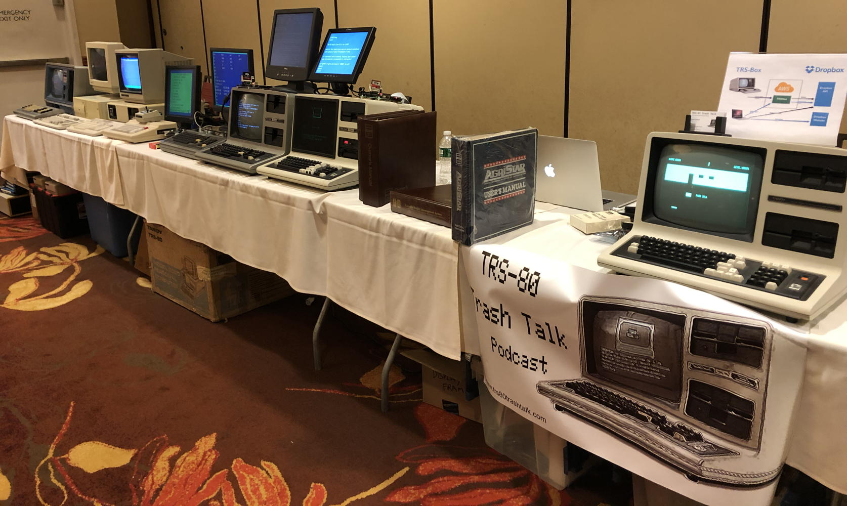 Wall of TRS-80s at Tandy Assembly