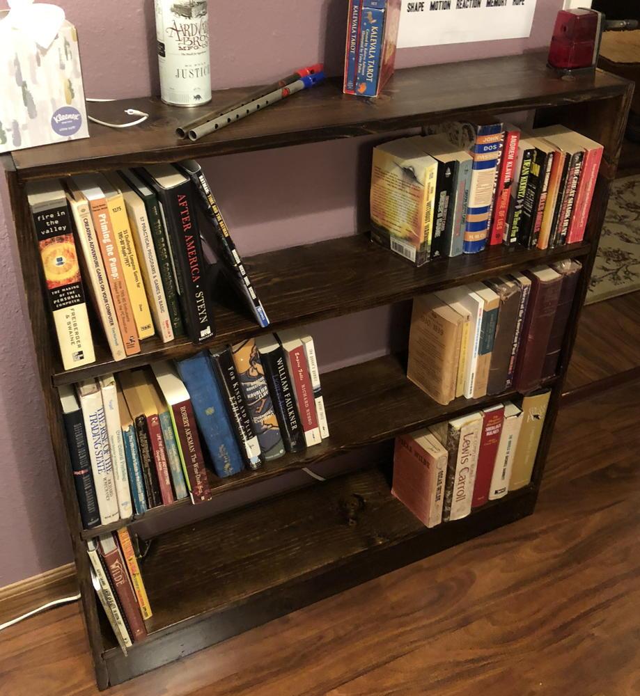 Study writing bookshelf