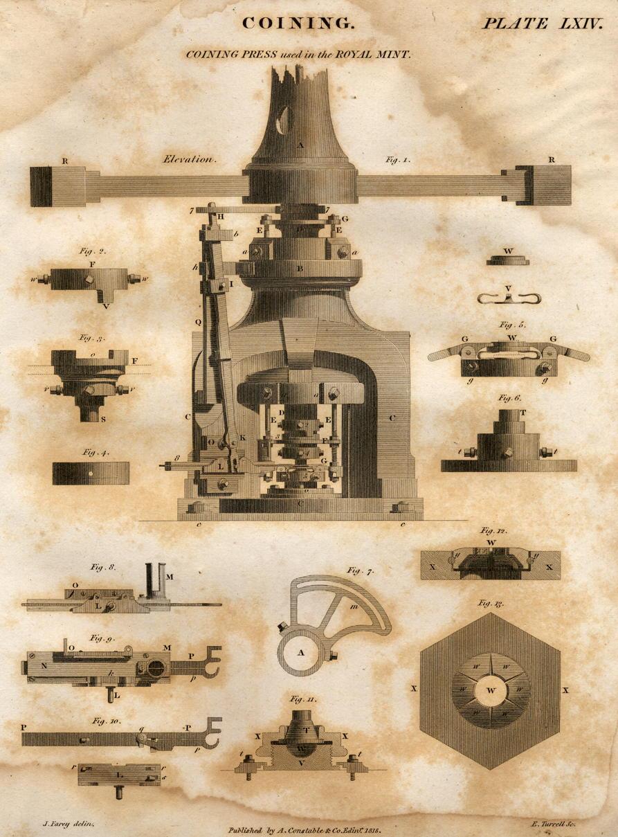 English coining press