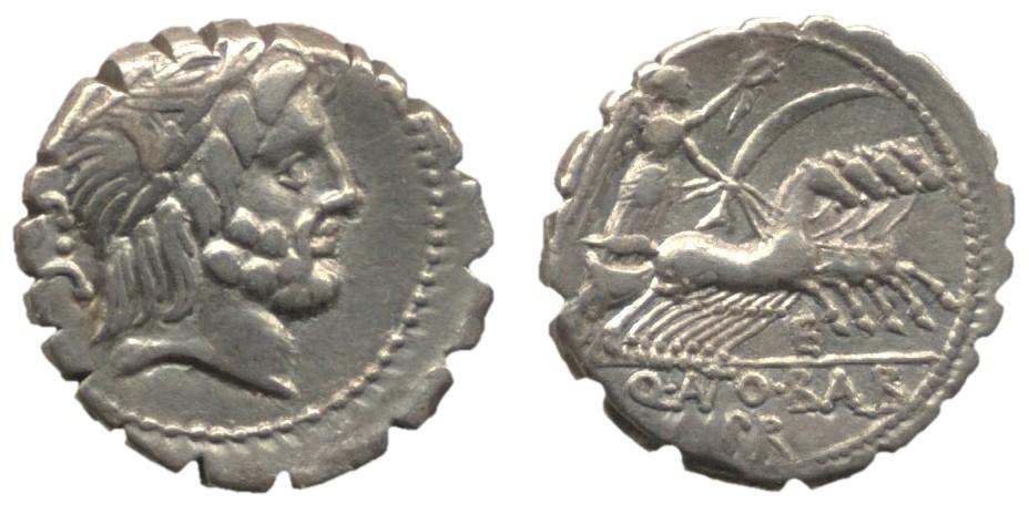 Antonia 1 Denarius serratus