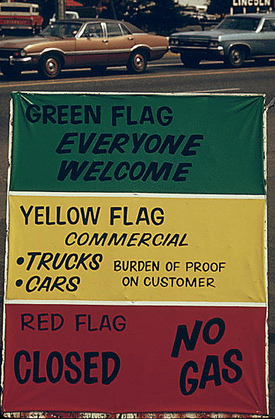 Flag policy during the 1973 oil crisis