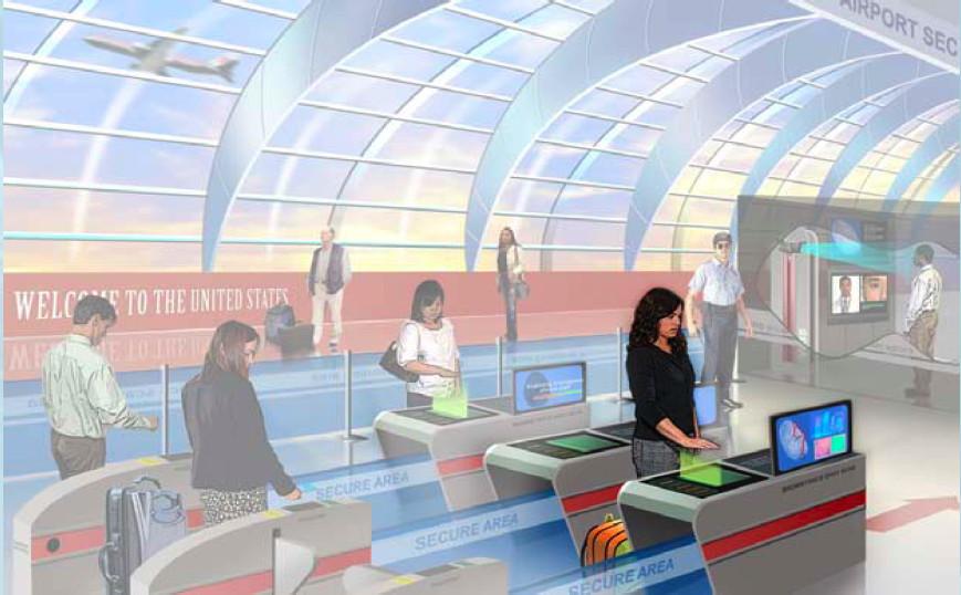 Air travel touchless fingerprint detector