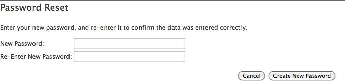 Password reset (set)