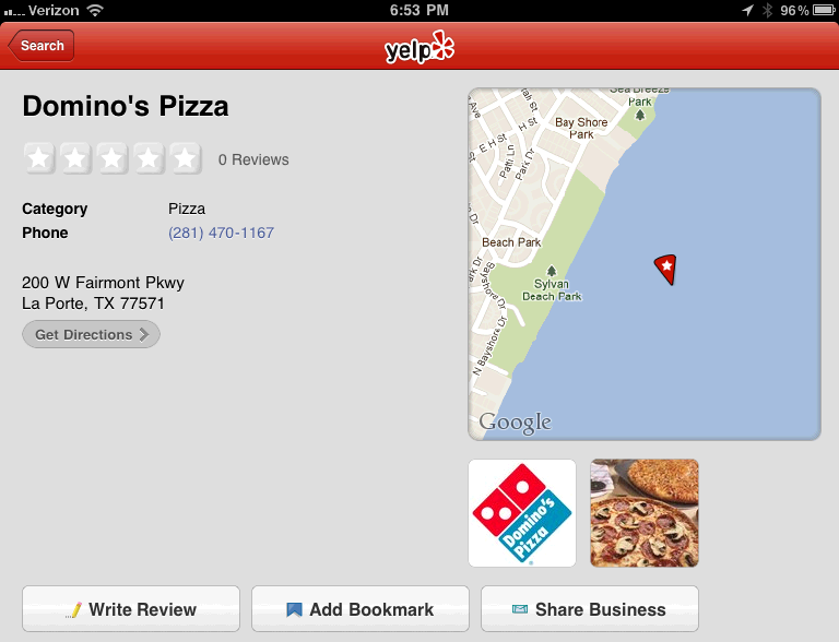 Domino's in the Bay